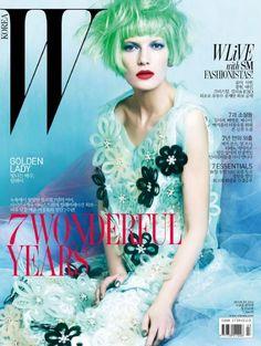 Valerija Kelava - W Magazine Cover [Korea, South] (4 March 2012)