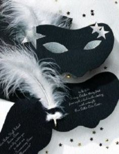 Great idea for a Masquerade party invite. Could change this up to include corporate colours for work.