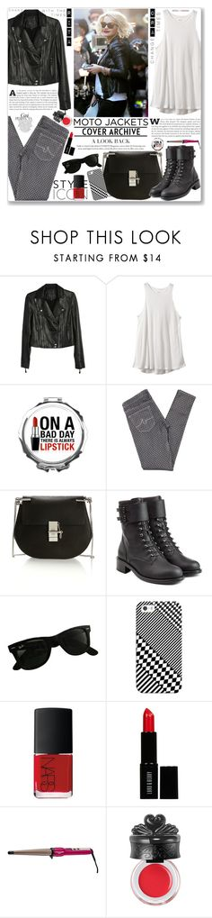 """""""After Dark: Moto Jackets as worn by Rita Ora"""" by firstclass1 ❤ liked on Polyvore featuring Paige Denim, RVCA, AG Adriano Goldschmied, Chloé, Philosophy di Lorenzo Serafini, Ray-Ban, Casetify, NARS Cosmetics, Lord & Berry and Whiteley"""