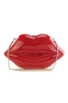 Lip Service Clutch Handbag