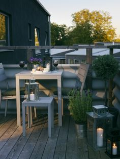 Adding Lanterns to your Balcony like the IKEA BORRY range gives both athmosphere and warmth to your summer evenings.