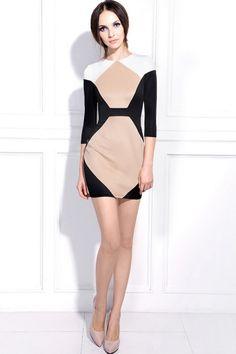 Geometric Pattern Bodycon Dress OASAP.com