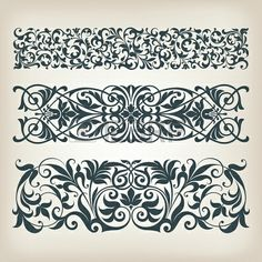 baroque ornament border