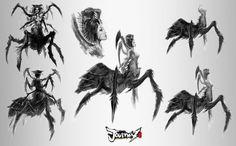 Spider Queen Demon 01, Pablo Fernandez on ArtStation at https://www.artstation.com/artwork/spider-queen-demon-01