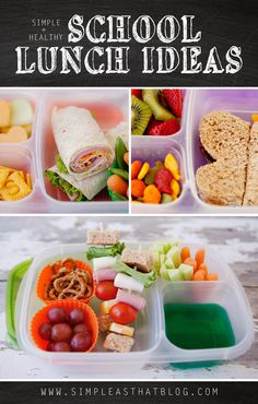 Simple and Healthy School Lunch Ideas.  These are great ideas!