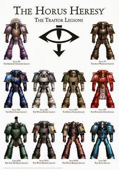 Horus Heresy Traitor Legions