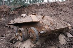 An old Russian tank found buried in Holon's industrial zone. (Photo ...