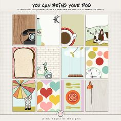 You Can Bring Your Dog   Journal Cards  http://the-lilypad.com/store/You-Can-Bring-Your-Dog-Journal-Cards.html
