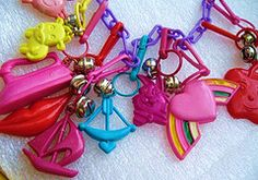 Plastic bell charm bracelets.i still remember my5thgrade pictures with this necklace on.,..