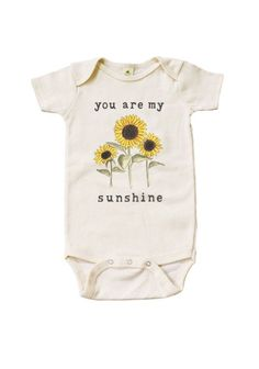 'You Are My Sunshine' Organic Onesie Newborn Baby Coming Home Outfit | MiniAndMeep on Etsy #newborn #baby #cominghomeoutfit