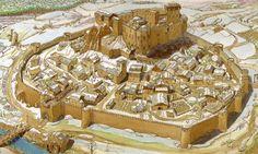 Fantasy Map Making, Fantasy World Map, Fantasy City, Fantasy Castle, Fantasy Places, Medieval Town, Medieval Castle, Medieval Fantasy, Architecture Drawings