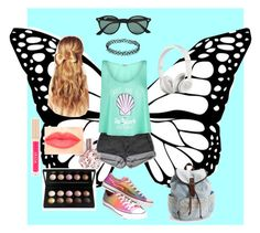 """Summer?"" by vintigelovergirl ❤ liked on Polyvore featuring PèPè, Wildfox, Converse, Aéropostale, Hershesons, Ray-Ban, ARI, Beats by Dr. Dre, NYX and Stila"