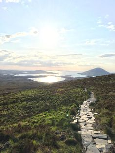 View from Diamond Hill, Connemara National Park, Ireland.