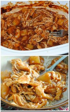 Pineapple chicken in a crock pot!!! Wonderful taste. Made this April 2014. I made rice to put the chicken over the top. I also used a Jamaican jerk sauce instead of BBQ sauce, I wanted a little more spice. Definitely will make again!!!