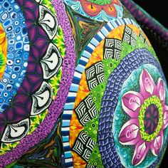 Kaleidoscope teapot closeup Polymer Clay Art, Teapot, Bangles, Jewelry, Bracelets, Jewlery, Bijoux, Tea Pot, Schmuck