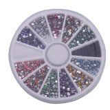 1800pcs 2mm 12 Color Nail Art Rhinestones Glitter Tips Round Shape Deco + Wheel - #nails #nailart #nailtools #nailartaccessories -   Features:   1. New and never been used   2. 12 Different   colors   3. Clean the surface of your nails, brush the bas