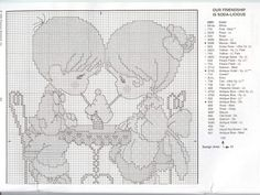 02.PM - Regalos del Corazón (128-172) - Google Drive Diy Christmas Ornaments, Precious Moments, Google Drive, Projects To Try, Cross Stitch, Diagram, Amor, Miniatures, Embroidery Stitches