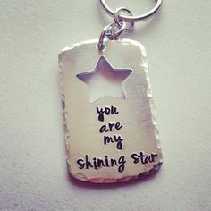 Hey, I found this really awesome Etsy listing at https://www.etsy.com/listing/185705055/hand-stamped-you-are-my-shining-star-dog