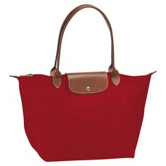 I love Longchamp bags! I have this one in red and slate.  Have a larger one in brown.  They are light and roomy.