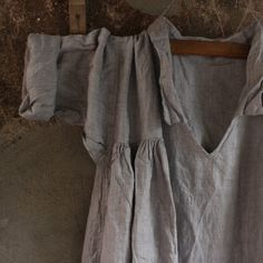 ON SALE Soft Grey Linen Dress by MegbyDesign on Etsy