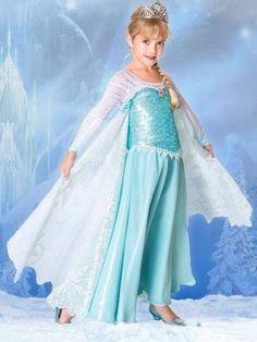 DISNEY FROZEN ELSA DRESS FROZEN PRINCESS GIRLS SIZE 7-8 #Disney #Dress