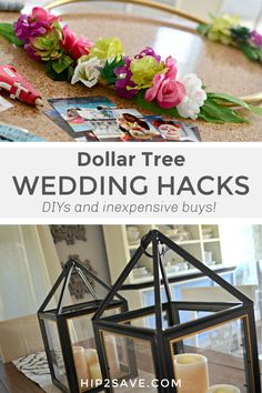 With our Dollar Tree wedding hacks, you can pull off a beautiful wedding without breaking the bank! While you might not want to go the cheapest route for every detail when planning your special day, you can tackle a few wedding to-dos using $1 items from Dollar Tree...and we'll show you how! #wedding #diy