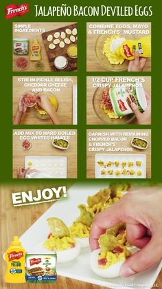 These are definitely not your mom's deviled eggs. Try this retro recipe spiced up - Jalapeño Deviled Eggs. Retro Recipes, Spicy Recipes, Appetizer Recipes, Cooking Recipes, Thanksgiving Recipes, Holiday Recipes, Bacon Deviled Eggs, Stuffed Jalapenos With Bacon, Incredible Edibles