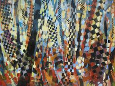 """Painting by Jean Cauthen  """"Harlequinn Forest"""""""
