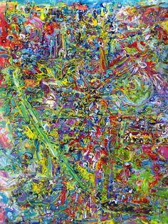 """Saatchi Art Artist Igor Eugen Prokop; Painting, """"GREEN  LIFE  LINE"""" #art"""