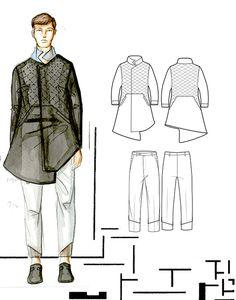 Menswear Tailored Capsule Collection on Behance Fashion Illustration Sketches, Fashion Sketchbook, Fashion Design Sketches, Mens Indian Wear, Mens Ethnic Wear, Croquis Fashion, Fashion Portfolio Layout, Fashion Terms, Vogue Men