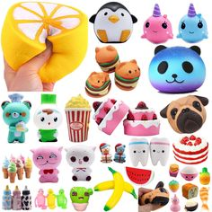 Lot Wholesale Jumbo Squishy Soft Slow Rising Squeeze Pressure Relief Kids Toys