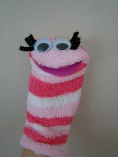 sock puppet - felt instead of foam for the mouth