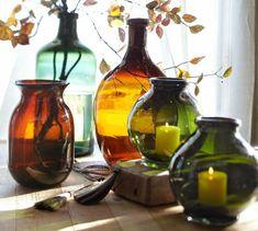 Recycled Glass Bottle Vases   Pottery Barn