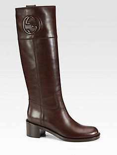 Gucci Soho Leather Boots - Cocoa
