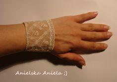 DIY..Tutorial..Bransoletka koronkowa...diy lace bracelet