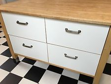 Ikea Kitchen Island Varde ikea varde kitchen unit with 3 stainless steel drawers for sale in