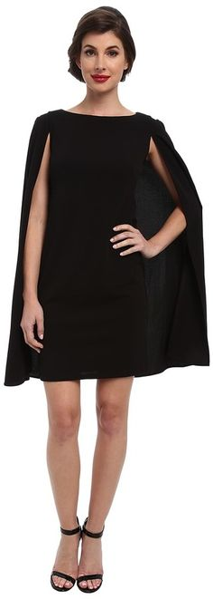 Adrianna Papell Structured Cape Sheath Dress (Black) Women's Dress Cape Dress, Dress Up, Lace Sheath Dress, Dress To Impress, Short Dresses, Formal Dresses, Adrianna Papell, Dress Black, Clothes