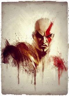 Kratos  digital oil painting..