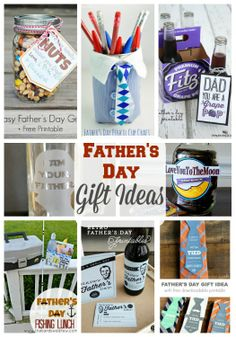 20 Father's Day Gift Ideas + free printables!