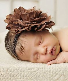 Loving this Brown Crinkle Chiffon & Mesh Headband on #zulily! #zulilyfinds