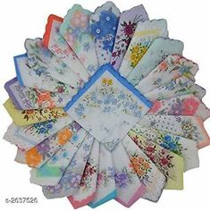 Hankerchiefs  Classy Cotton Printed Women's Handkerchiefs (Pack Of 24) Material: Cotton Size: Free Size  Description: It Has 24 Pieces Of Women's Hand Kerchiefs Work: Printed Country of Origin: India Sizes Available: Free Size   Catalog Rating: ★4.1 (813)  Catalog Name: Navya Classy Cotton Printed Women's Handkerchiefs Combo Vol 1 CatalogID_356566 C65-SC1230 Code: 302-2637526-714