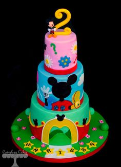 Mickey's Clubhouse Birthday Cake www.facebook.com/i.love.cuteology.cakes