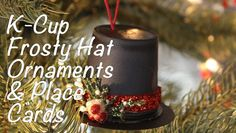 Frosty Hat Ornaments using Recycled K-Cups - Craft Test Dummies Rose Gold Christmas Decorations, Christmas Ornament Crafts, Handmade Christmas, Holiday Crafts, Snowman Ornaments, K Cup Crafts, Diy Crafts, Recycled Crafts, Paper Crafts