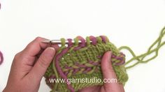 How to knit a Latvian braid