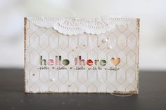 Hello There  - Card making inspiration from our On Trend Collection. #cratepaper #inspiration