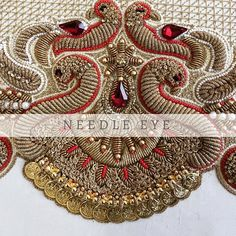 All you need to know today - our Lakshmi kasu work in progress for a clients wedding blouse.