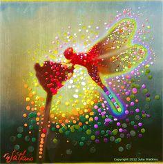 Dragon Fairy Projecting Stunning Elemental by EnergyArtistJulia. $48.00, via Etsy.