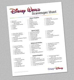 Disney World Scavenger Hunt