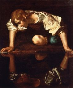 """Narcissus at the Source"" by Michelangelo Merisi da Caravaggio (1597-99). Don't spend too much time on your surface, it's your work that expresses you!"