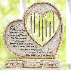 Need a unique gift? Send They'll Live On In Our Hearts Memorial Chime and other personalized gifts at Personal Creations.